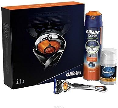 Coffret Gillette – Fusion Proglide Flexball – Afeitadora, Gel de afeitar ...