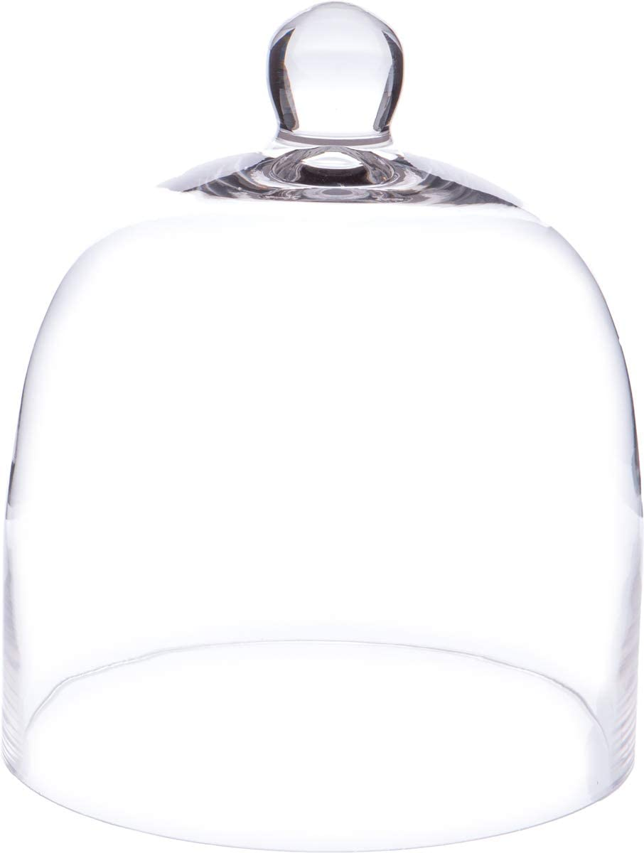 "Plymor 8 inch x 9.5 inch Bell Jar Glass Display Dome Cloche (Interior Size 7.75"" x 8"")"