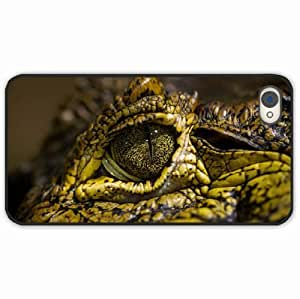 iPhone 4 4S Black Hardshell Case crocodile eyes spots Desin Images Protector Back Cover