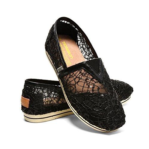 Scarpe Da Donna Tiosebon Slip On Sneaker Canvas Flat 5915 Black