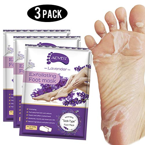 Foot Peel Mask 3 Pack, Exfoliator Peel Off Calluses Dead Skin Callus Remover,Baby Soft Smooth...