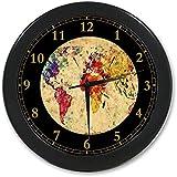 "World Map Custom Wall Clock Quartz 9.65"" Home Office Decor Gifts"