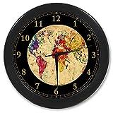 World Map Custom Wall Clock Quartz 9.65″ Home Office Decor Gifts For Sale