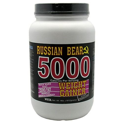 Vitol Russian Bear 5000 Weight Gainer Chocolate - 4 lbs (Gainer Bear 5000 Russian Weight)