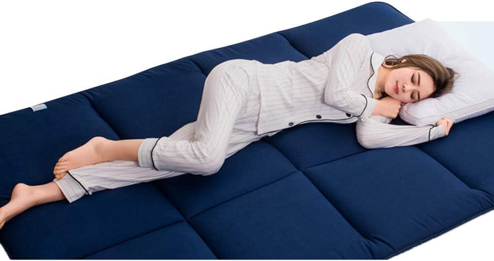 Matratze,Blau,Twin39x75inch Bett Matratze Zu Hause Bodenmatte Tatami Matratze Dicke Weiche Student Klappmatratze Ganze Baumwolle F/üllung Futon Matratze f/ür Gastschlafunterlage