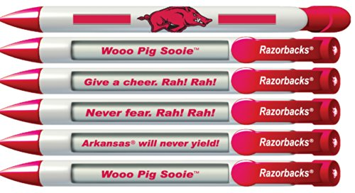 Greeting Pen University of Arkansas Braggin' Rights Pen Set, 6 Pens with Rotating Messages (20505)