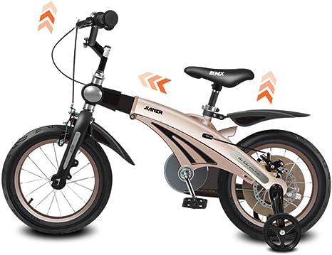 YQ para Niños Bicicleta Infantil De 14 Pulgadas Ajustable 3-7 Años ...