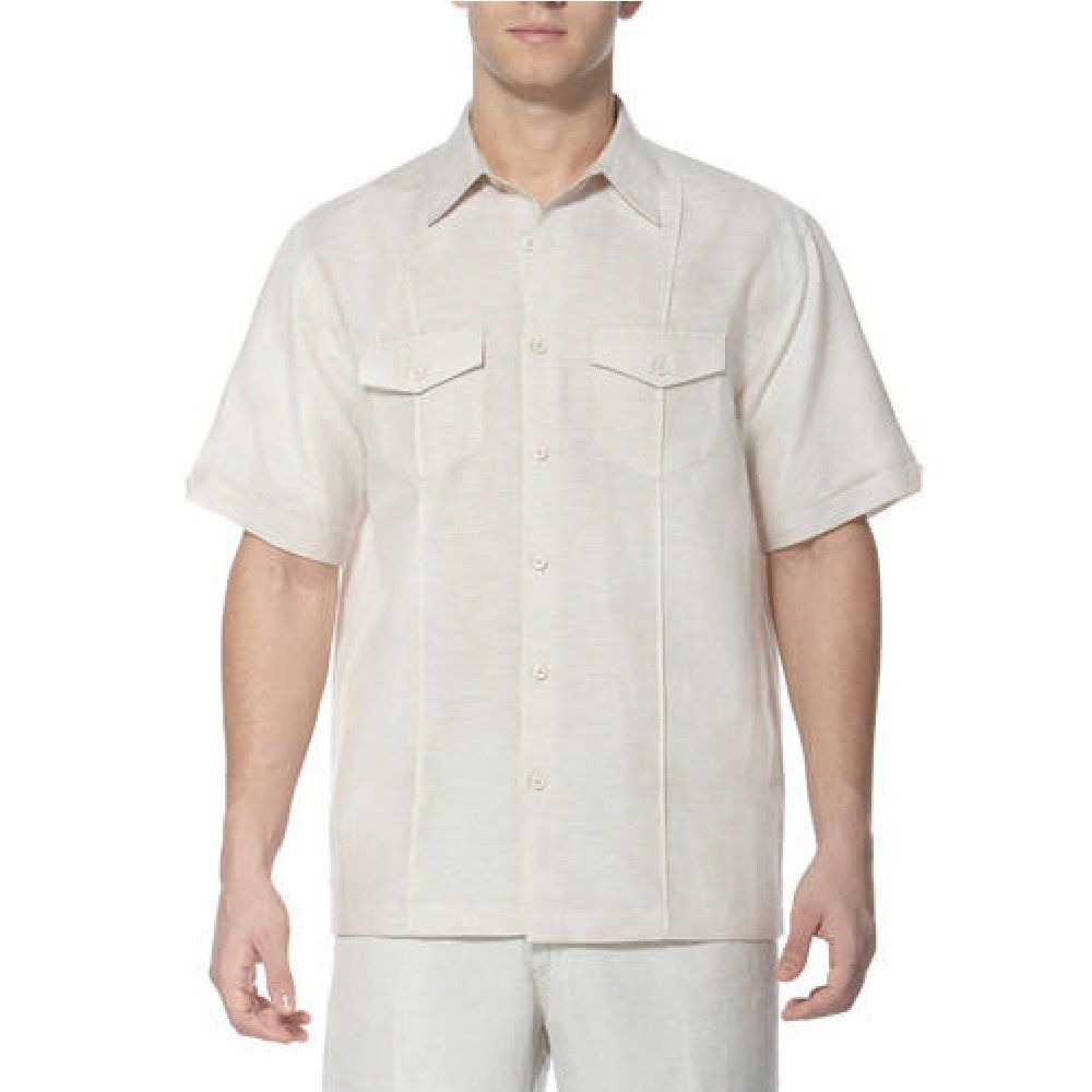 Cafe Luna Mens Button Down Linen Casual Shirt Regular /& Big Mens