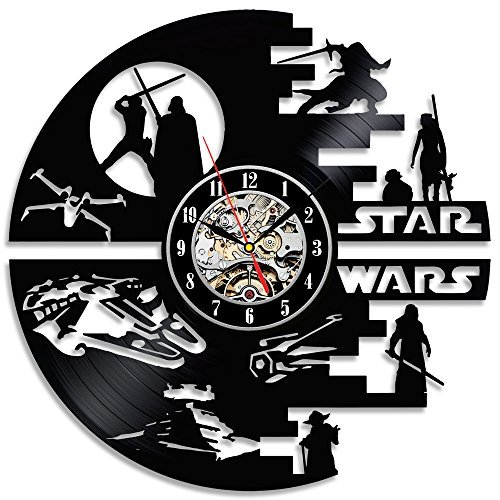 Decorative Star Wars Handmade Vinyl Wall Clock For Sale