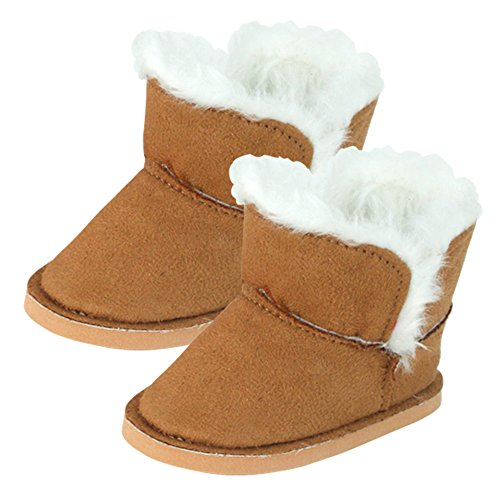 (Sophia's 18 Inch Doll Boots | Brown Mini Ewe Bootie by)