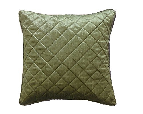 Saffron Pillow Case Chair Cushion Cover Dupioni Silk Quilted Piping Bds Ehs 20 Inches - Pillow Dupioni Cover Silk