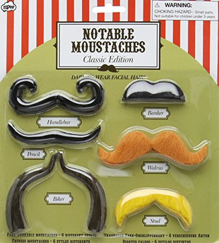 Notable Moustaches - Classic Edition - Facial Hair Biker Moustache