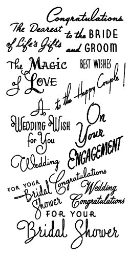 """Wedding Greetings - Magic of Love // Clear stamps pack (4""""x7"""") FLONZ"""