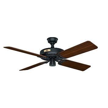 Hunter 23838 Original 52 Black Ceiling Fan With Five Walnutcherry