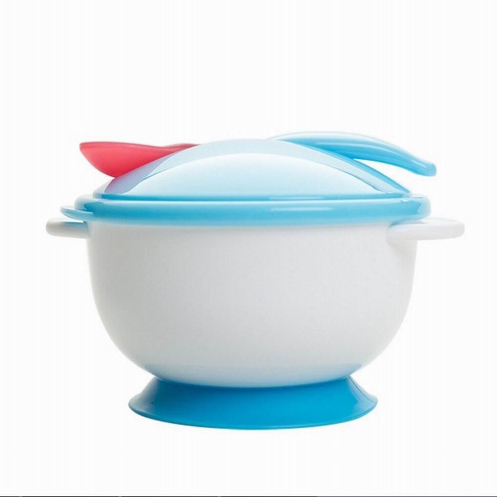 Alivier Toddler bébé enfants alimentation antidérapant Ventouse à deux mains Bol Cuillère Ensemble de vaisselle