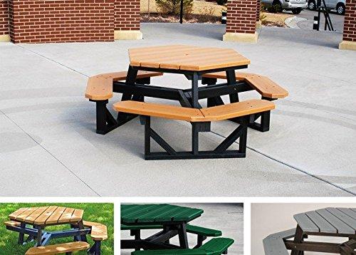 Jayhawk PB 6HEXCED Hex Table, Cedar - 6 ft.