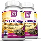 BRI Nutrition L-Tryptophan - 1500mg Servings - 2-Pack of 120 Count of L Tryptophan - 500 mg per Capsule