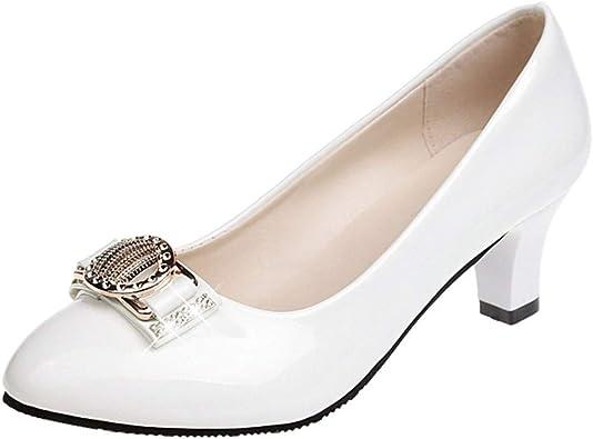 Zapatos De Tacon Medio Ancho Para Mujer Invierno Primavera 2019 Paolian Zapatos Fiesta Elegantes Boda Cuna Vestir Calzado De Trabajo De Piel Rosa Verano Tallas Grandes Baratos Con Rhinestone Amazon Es Zapatos Y