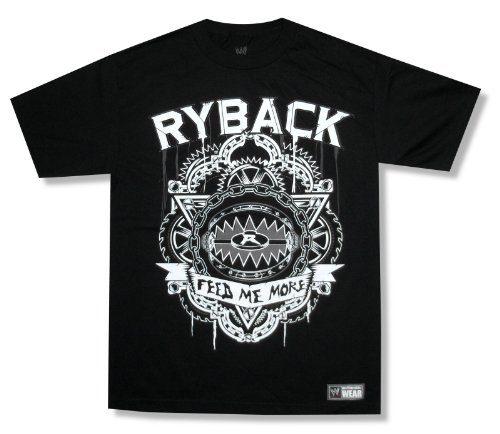 WWE Wrestling ''Ryback Feed Me More'' Black T-Shirt (Large) by WWE Authentic