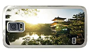 Hipster rugged Samsung Galaxy S5 Cases golden pavilion temple PC Transparent for Samsung S5