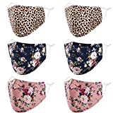 Reusable Breathable Cloth Face Mask Women Men Washable Cute Designer Fashion Cotton Fabric Polyester Nylon Silk Bamboo Stitch Lightweight Thin Pretty Fall Winter Floral Flower Leopard Cheetah Lepard (Color: 6 Floral Leopard)
