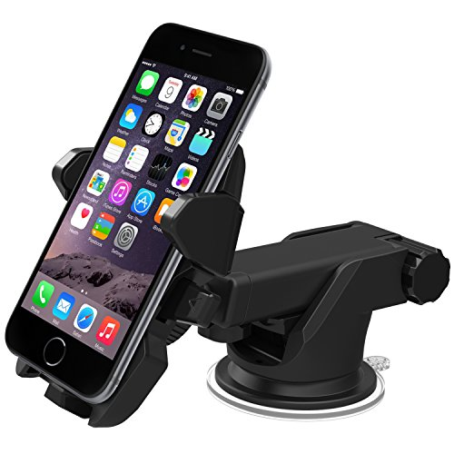 iOttie Easy One Touch 2 Car Mount Holder for iPhone 6 (4.7) Plus (5.5) 5s 5c Samsung Galaxy S6S6 Edge S5S4 S3 Note 43 Google Nexus 54 LG G4-Retail Pack