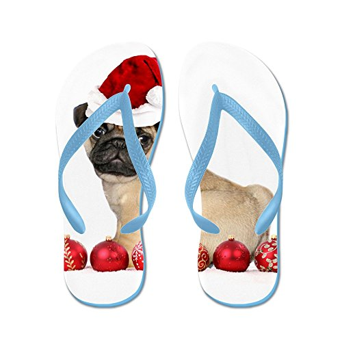Christmas Pug Dog - Flip Flops Funny Thong Sandals Beach Sandals