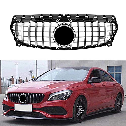 (MotorFansClub GT R Panamericana W117 Upper Insert Grill Front Grille fit for Mercedes Benz CLA Class CLA200 CLA250 CLA45 AMG 2013-2018 (Silver))