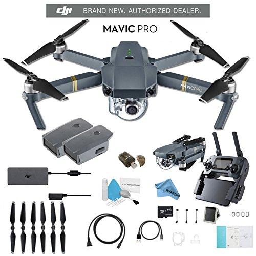 DJI Mavic Pro CP.PT.000500 + DJI Intelligent Flight Battery for Mavic Pro and Much More