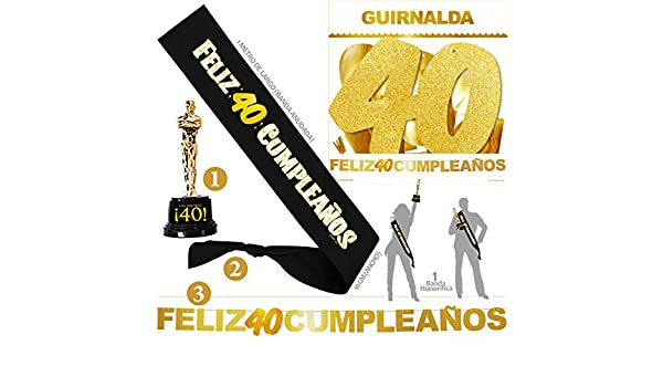 Inedit Festa - Banda 40 Años Cumpleaños Banda Honor Feliz 40 ...