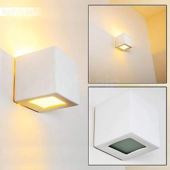 Lámpara de pared Noto - 1x E27 60W max - Se puede pintar: Amazon ...