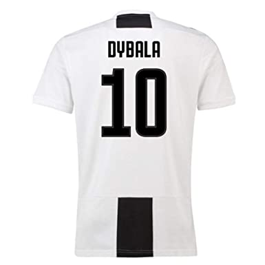 big sale 4b1eb 84875 JUJERS #10 Dybala Juventus Home Soccer Jersey 2018-2019 Season Mens  White/Black