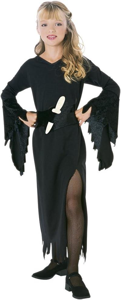 Halloween - Disfraz de hija de las tinieblas para niña, Talla M ...