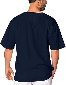 Camisetas Informales de Hombre, Camisa de Manga Corta de Color Liso de Lace-Up, Camisa de Las Camisetas de Manga Corta robustas, Camiseta Ancha de Estilo Retro Marina Militare M: Amazon.es: Ropa y