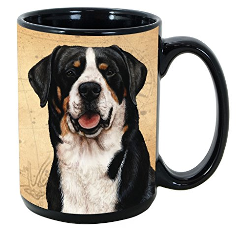 Imprints Plus Dog Breeds (E-P) Greater Swiss Mountain Dog 15-oz Coffee Mug Bundle with Non-Negotiable K-Nine Cash (greater swiss mountain dog ()