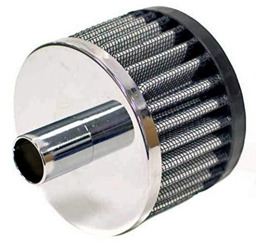 - K&N Engineering 62-1070 Steel Base Crankcase Vent Filter - 3/4in. Vent - Rubber End Cap