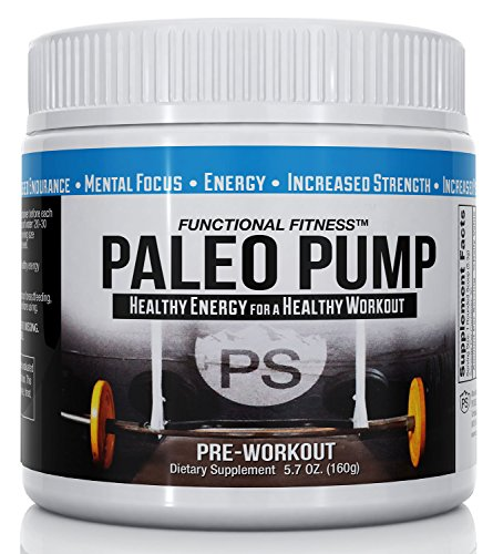 #1 Rated PALEO PUMP All Natural Pre-Workout Energy Blend | 30 Servings Per Container | No Additives All Natural Flavoring | 5.7 oz Jar | Paleo Diet Friendly | Free Shipping!