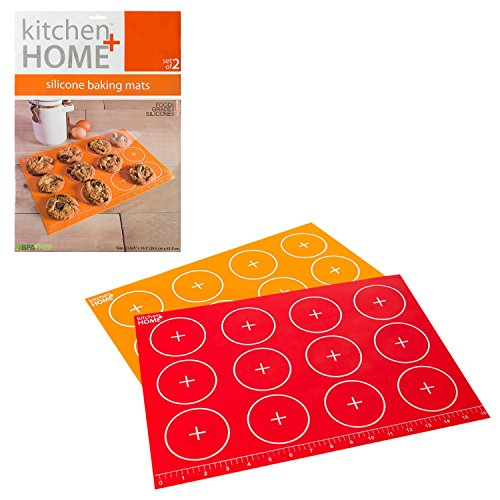 Silicone Baking Mat Sheet - Non-stick, Heat Resistant and Freeze Resistant Silicone (Set of 2) - Contains NO BPA (Silicone Baking Sheet Liners compare prices)