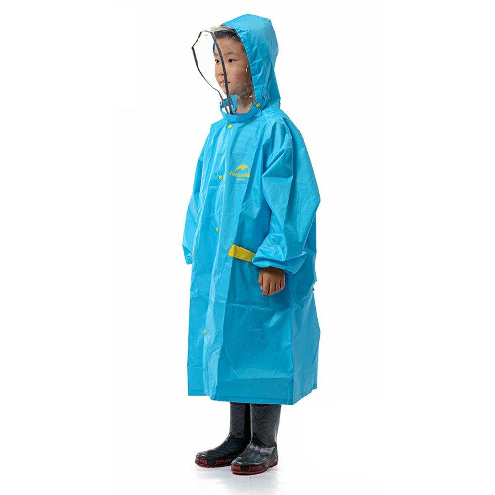 Naturehike Boys Girls Raincoat Ultraweight Portable Children Rain Jacket Poncho Kids Waterproof Rainware (Blue L) Igo Online Shop North America