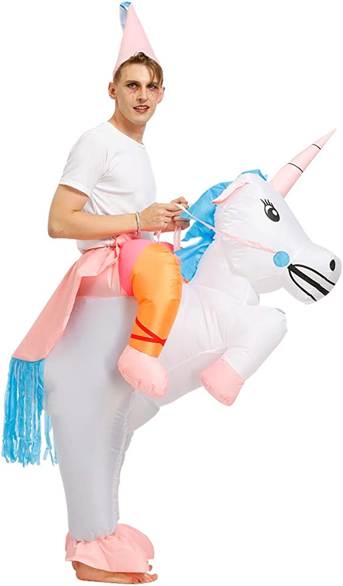 Amazon.com: Disfraz de unicornio inflable para Halloween ...