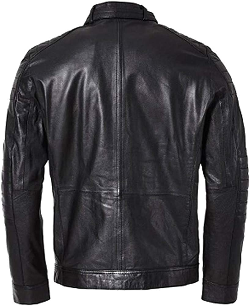 Stormwise Mens Fashion Real Leather Termin@tor Style Slim Fit Jacket