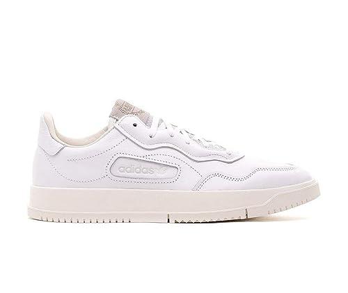 outlet store 5edce 9063d adidas Originals Super Court Premiere, Footwear White-Crystal White-Chalk  White, 4