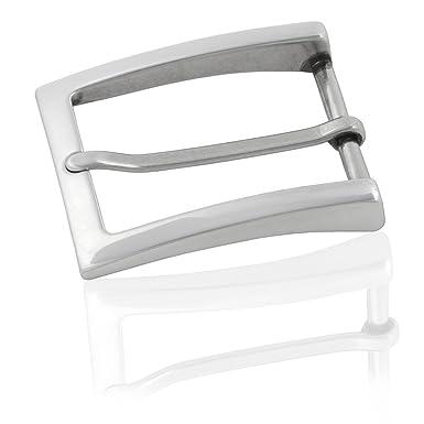 0971fa1e7b915e FREDERIC HERMANO Gürtelschnalle Buckle 35mm Metall Silber Poliert - Buckle  Unlimited - Dornschliesse Für Gürtel Mit