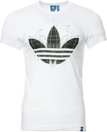adidas Tee Shirt Blanc Homme Const: : Vêtements et