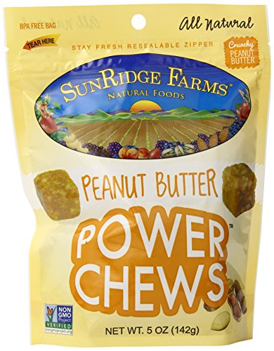 SunRidge Farms Peanut Butter Power Chews, 5 Ounce (Pack of 12)