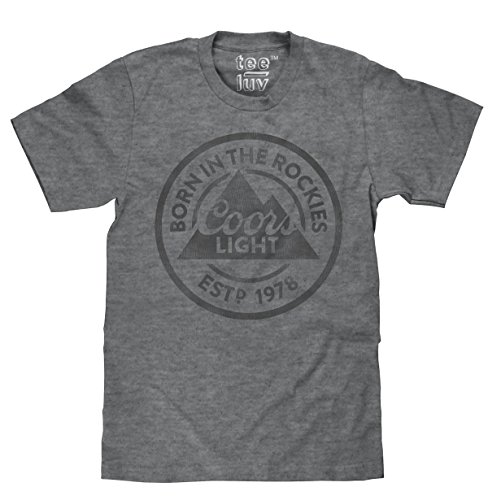 e41239b37da29 Coors Light T-Shirt - Born in The Rockies Coors Beer Shirt (Graphite)