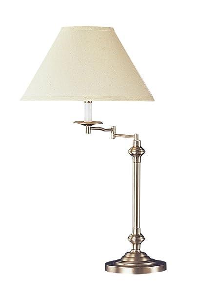 Cal Lighting Bo 342 Bs Swing Arm Table Lamp 150 Watt Brushed Steel