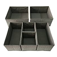 Sodynee Foldable Cloth Storage Box Closet Dresser Drawer Organizer Cube Baske...