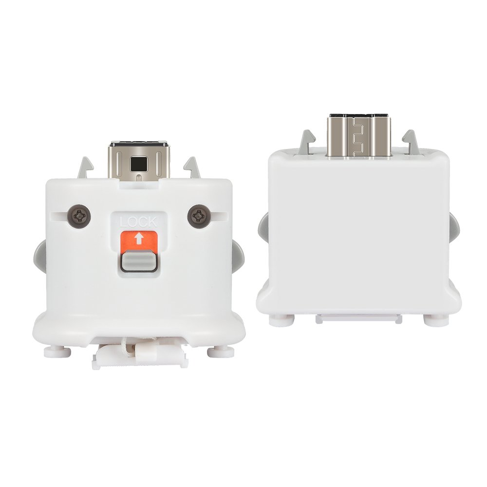 Wii Motion Plus Adapter 2 Pack for Wii Remotes, Lavuky WM03 Wii Motionplus Attachment for Wii Remote Controller -White