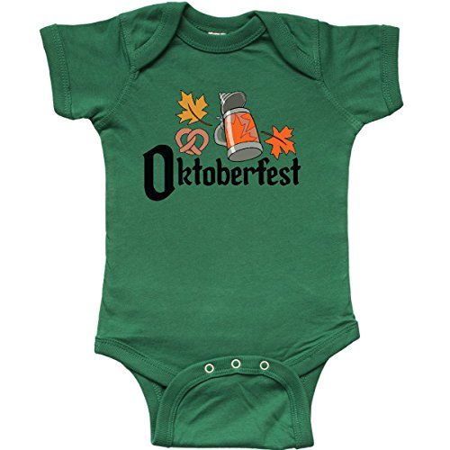inktastic Oktoberfest Leaves Infant Creeper 6 Months Kelly Green